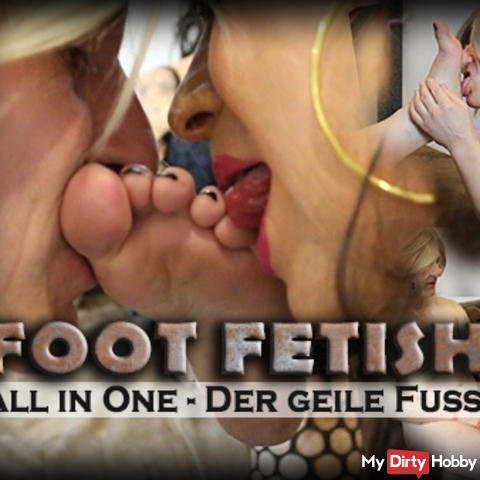 Foot Fetish All-In-One! The horny foot threesome!