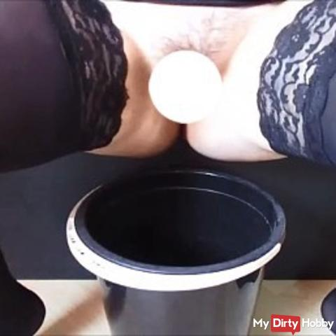 Pissing in the bucket