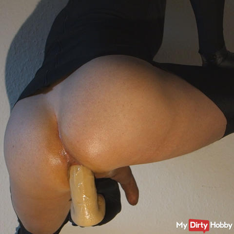 In the ass fucked and hosed