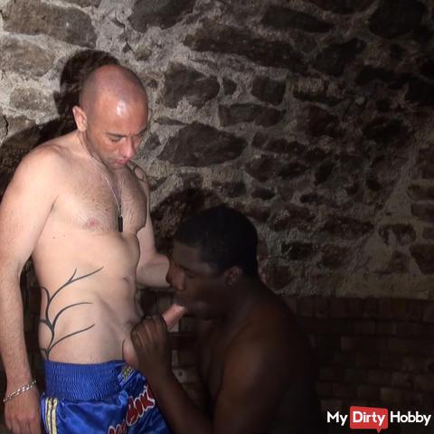 Ebony black xlx cock suck by ME