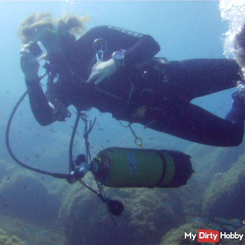 Scuba diving in the Mediterranean Sea