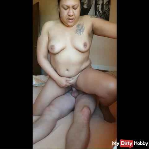 Morning fuck with horny, loud orgasm