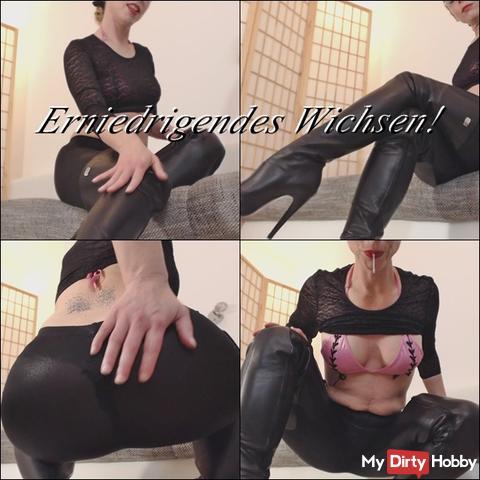 Degrading masturbation instruction