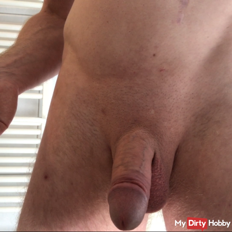My hard cock milked