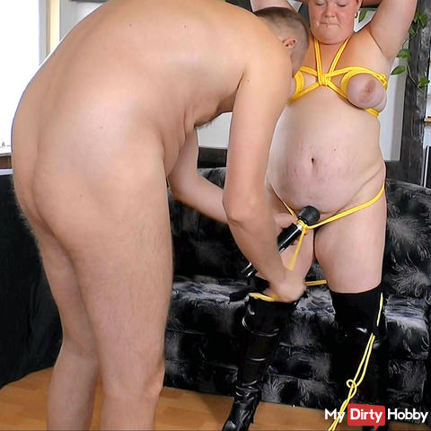 Tits-bondage and nylons torn