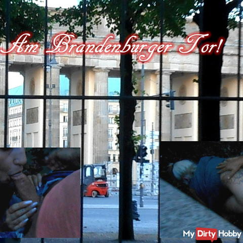 Our holiday in Berlin! At the Brandenburg Gate got hot!
