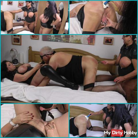 Slave ass full cream fucks with Mauldildo my pussy !!