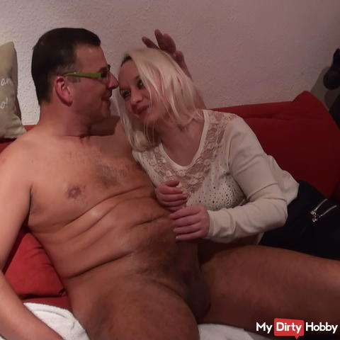Party Blowjob and thick balls full of balls to lick is Horny