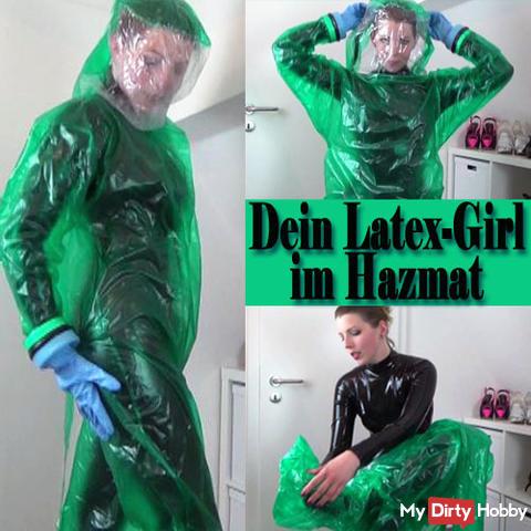 Dein LATEX-Girl im HAZMAT