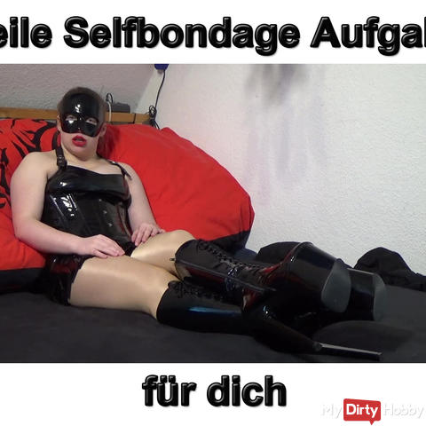 Horny selfbondage instructions for you