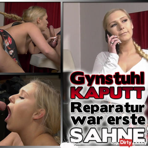 Gynstuhl KAPUTT- The repair service was first CREAM