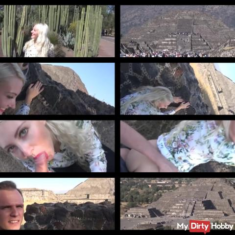 mega public - fucked at the second highest pyramid in the world outdoor public! scandal