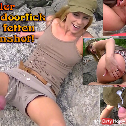 Geiler Outdoorfick with fat cumshot!
