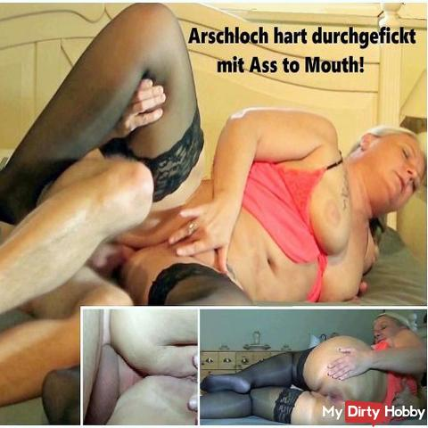 Asshole fucked hard with Ass to Mouth!