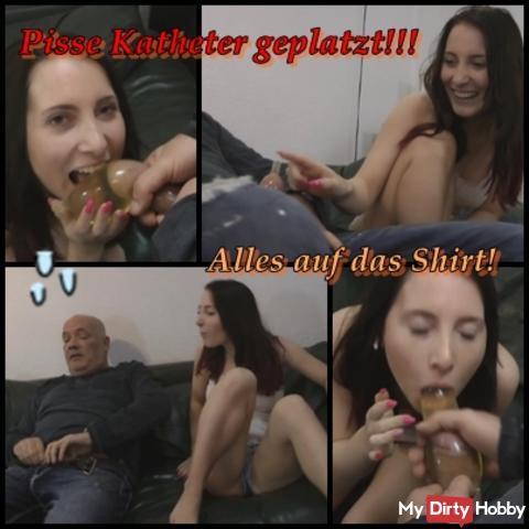 PISSE BOMB PLEATED !!! Stiffdaddys catheter!