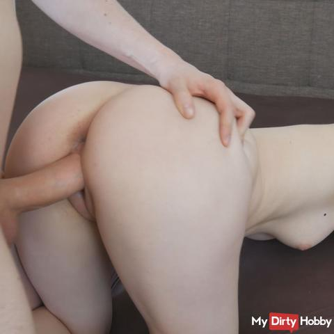Girlfriend gets butt-plug in the ass and gets fucked