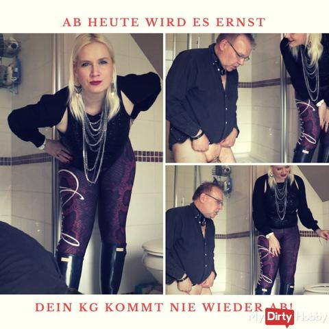 Now it will be brutal, your chastity key will be gone down the toilet for ever!
