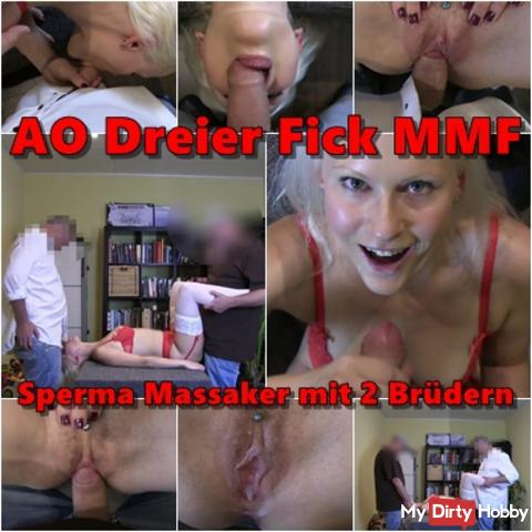 Ficktreffen: AO Threesome MMF - Spmera massacre with 2 brothers
