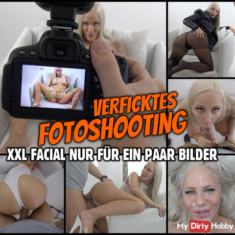 LEGS WIDE for a fucking photo shoot | XXL Facial only for a few pictures