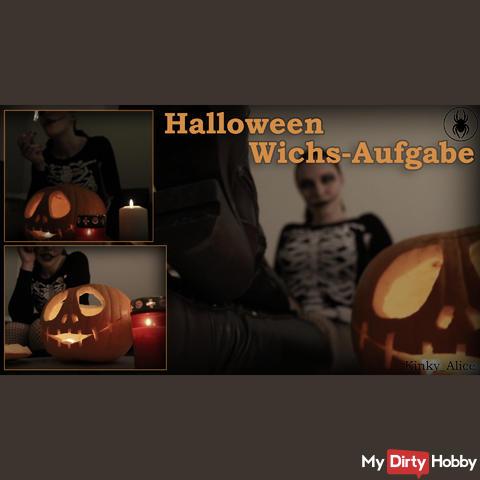 Halloween Wichs-Aufgabe