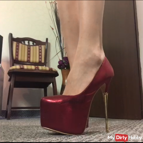 Red High Heels fantasy video !