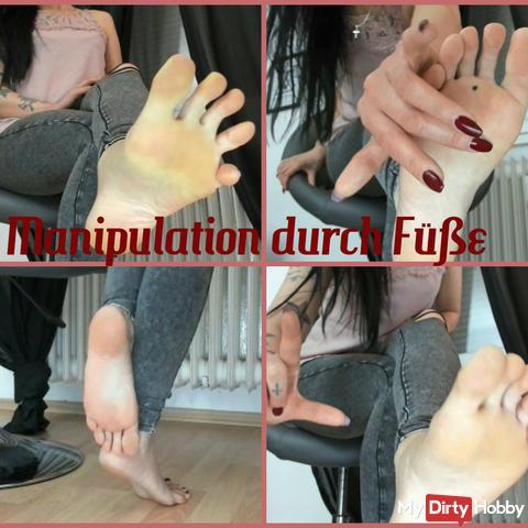 Manipulation durch Füße