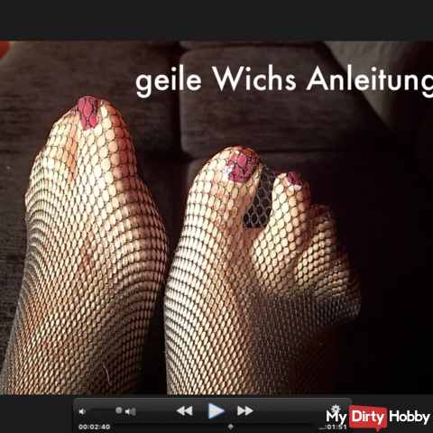 Horny Wichsanleitung for foot-lovers
