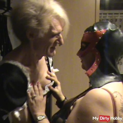 Meeting with TS - been licked in the maid costume
