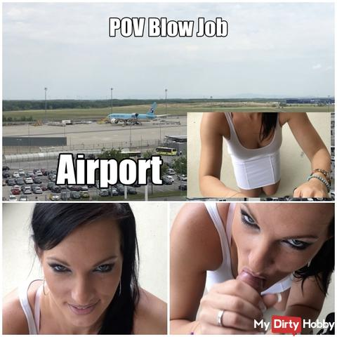 POV blow Job am Flughafen