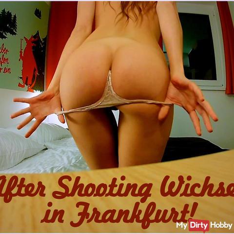 After shooting wank in Frankfurt!