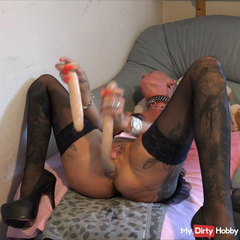 dildo snake in my ass and then still