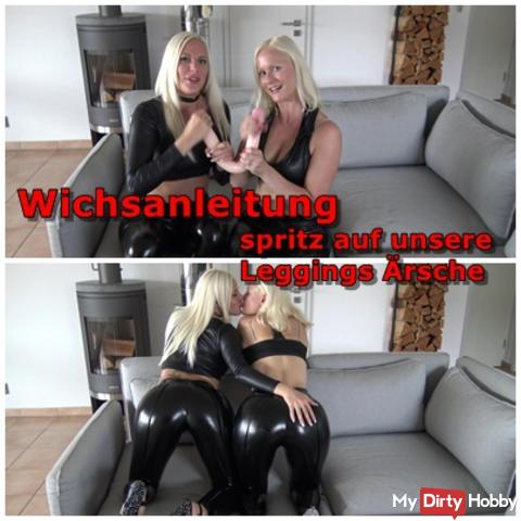 Wetlook Leggings Butts - Come spray us full!