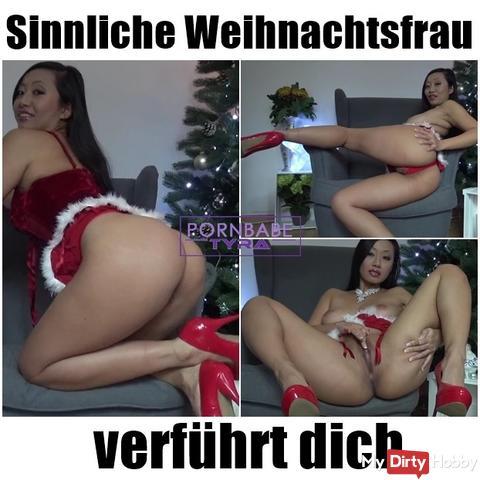 Sensual Christmas woman seduces you