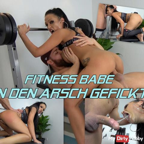 FITNESS BABE IN DEN ARSCH GEFICKT!