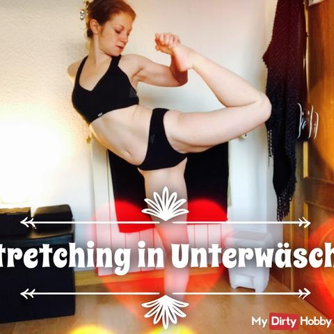 Intimate Moments: Stretching in Underwear