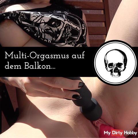 Multi-orgasm on the balcony