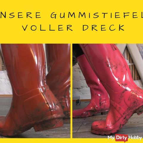 Hu*ter Boots/Gummistiefel schmutzig aber s*xy