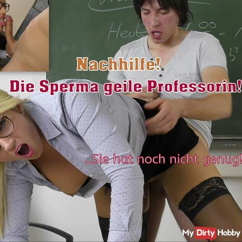Private tutoring! The sperm horny professor has not enough!