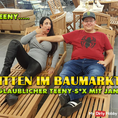 Mitten im Baumarkt ! Unglaublicher Teeny-s*x mit Jan 18 !!!