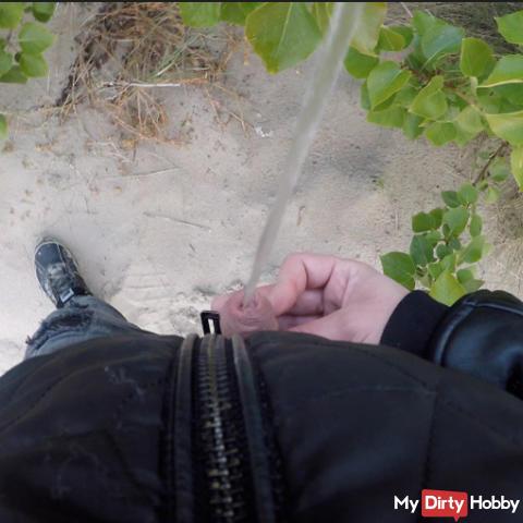 Taking a leak 13 times in public