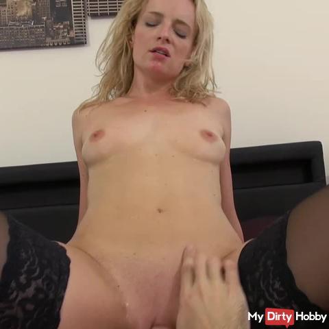 Orgasm nymphomaniac trained to swallow