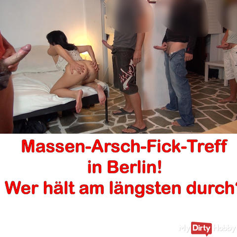 Cumshot party in Berlin, AO! Anal Mud Battle XXL