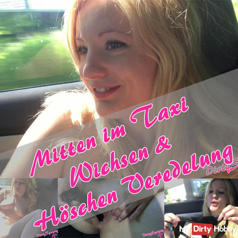 In the middle of the taxi! Jacking & Panties finishing