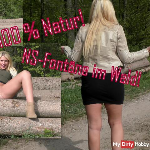 100% natural! NS fountain in the woods!