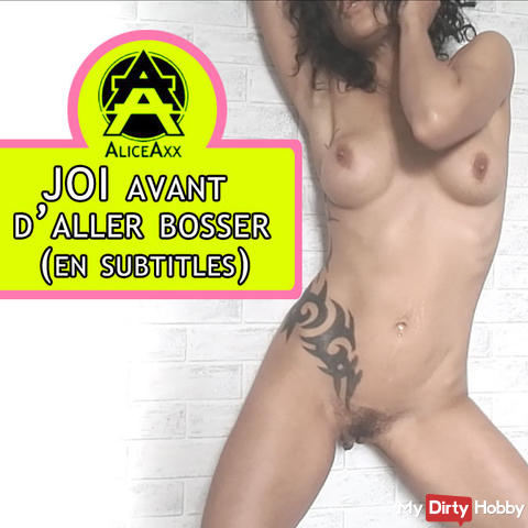 JOI french: jerk off with me before going to work  (english SUBTITLES)