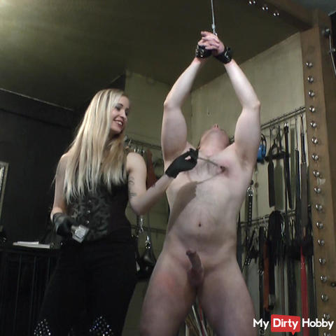 Nipple and cock pain for my pleasure