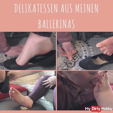 Überraschung in meinen Ballerinas