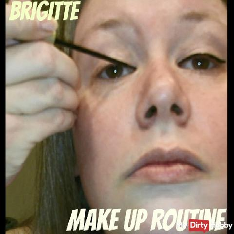 Brigitte is doing her make up