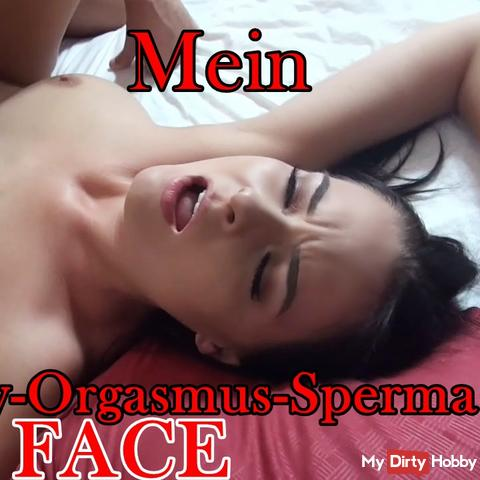 My TEENY ORGASM SPERMA FACE