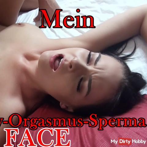 Mein TEENY-ORGASMUS-SPERMA FACE